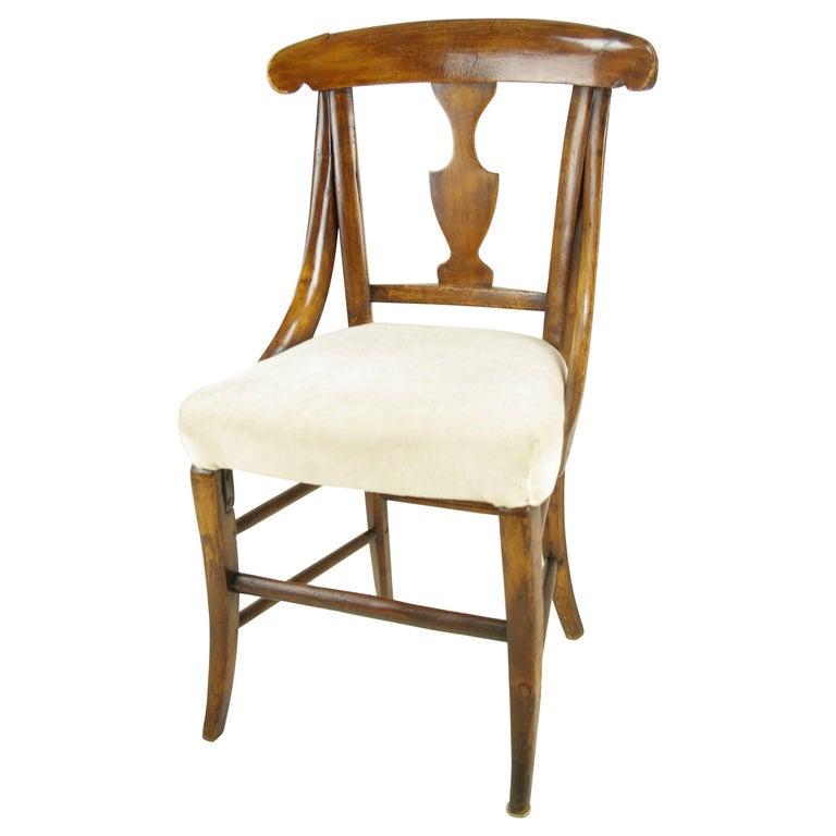 Antique Dolls Chair, Childs Chair, Victorian, Sycamore, Scotland 1880 For  Sale - Antique Dolls Chair, Childs Chair, Victorian, Sycamore, Scotland