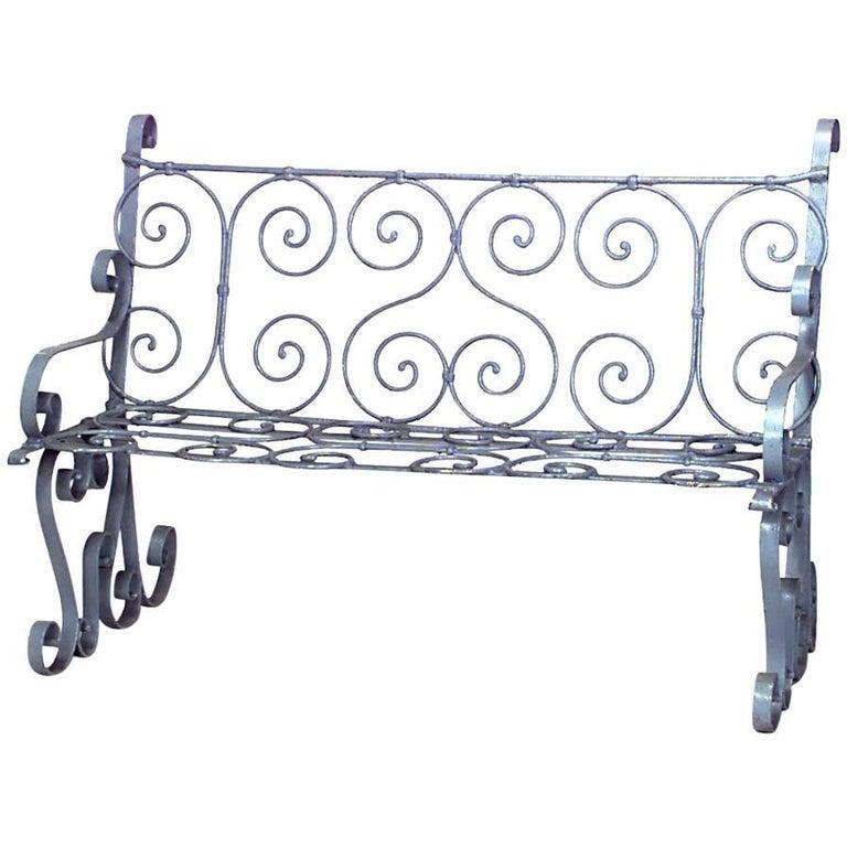 Outdoor Victorian Painted Iron Loveseat