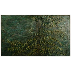 Midcentury Abstract Oil on Canvas by D.O. Selman