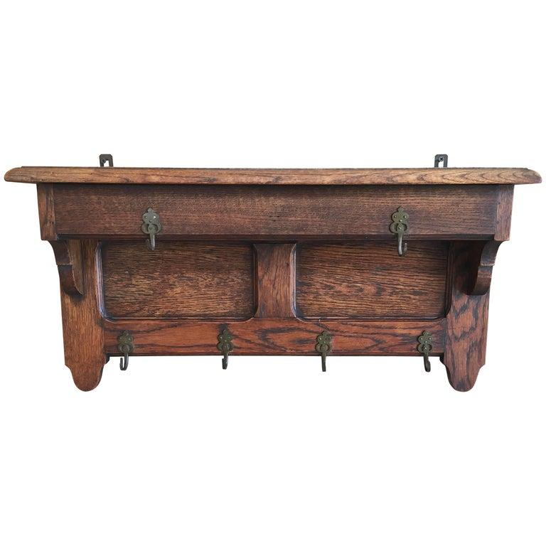 Antique Coat Rack or Pot Shelf