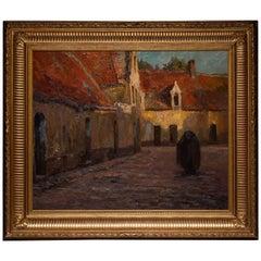 Joseph Middeleer Painting, Brussels 1865-1934 Bruges