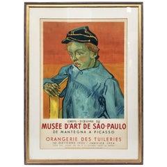 """1950s Vincent van Gogh """"Le Collégien 'the Pupil'"""" Museum Lithograph Print"""