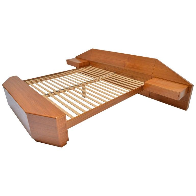 King Size Platform Bed by Danish Modernist Laurits M Larsen