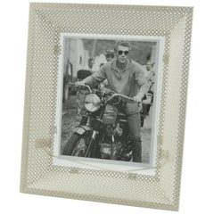 Mathieu Mategot 1950s White Perforated Metal Picture Photo Frame