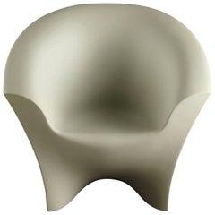 Ohla Armchair in Matte Ivory Polyethylene by Alberto Brogliato for Plust