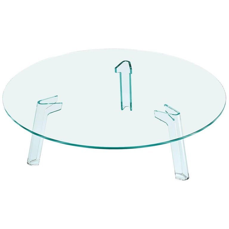 Flute Glass Coffee Table by Paolo Lucidi & Luca Pevere for Fiam