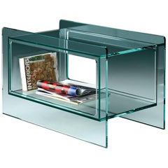 Magique Glass Side Table in Blue Glass by Studio Klass for Fiam