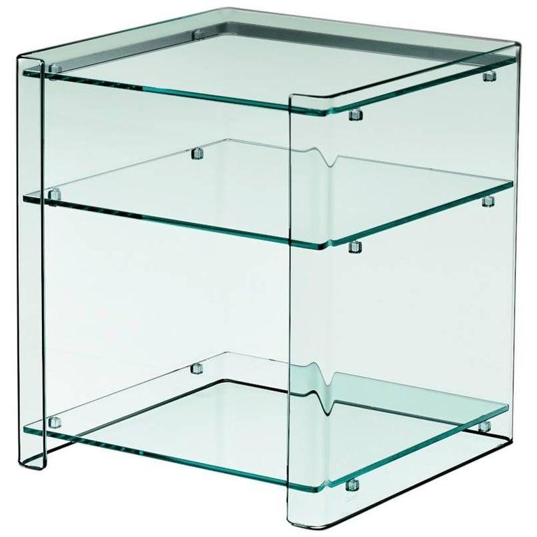 Milo Glass Sidetable by Ilaria Marelli for Fiam