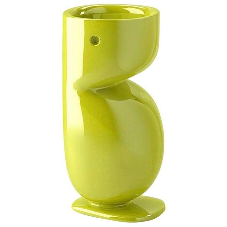 Beaver Pot in Lacquered Green Polyethylene by Matteo Zorzenoni for Plust