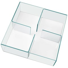 Quadra Coffee Table with White 'Glass Base by Matteo Nunziati for Fiam