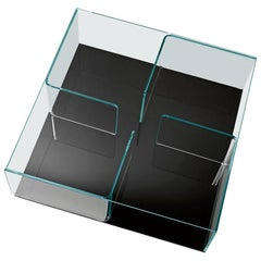 Quadra Coffee Table with Black Base by Matteo Nunziati for Fiam
