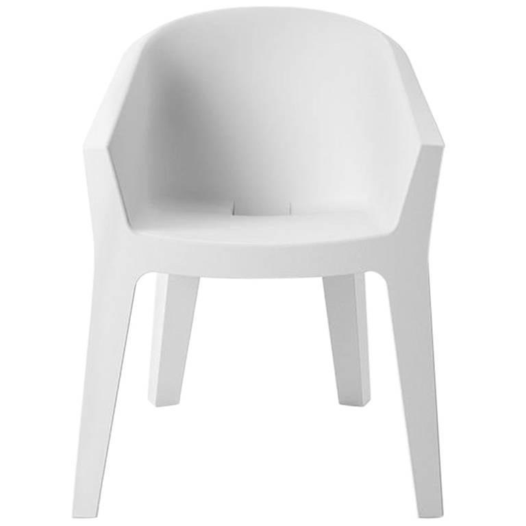Frozen Armchair in White Polyethylene by Matteo Ragni & Maurizio Prina for Plust