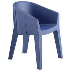 Frozen Armchair in Night Blue Polyethylene by Matteo Ragni & Maurizio Prina