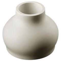 Fuzzy Vase in Matte White Polyethylene by Eddy Antonello for Plust