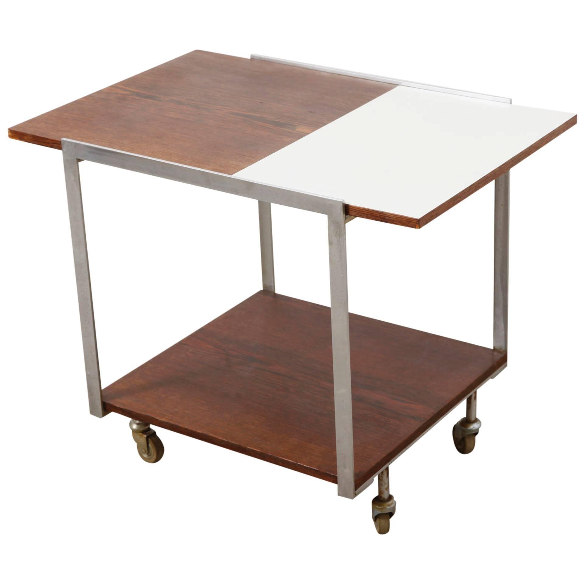 Mid-Century Modern Rolling Bar/Serving Cart
