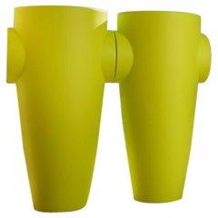 Humprey Vase in Matte Green Polyethylene by JVLT/Joe Velluto for Plust