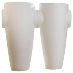 Humprey Vase in Matte White Polyethylene by JVLT/Joe Velluto for Plust