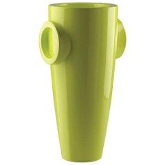 Humprey Vase in Lacquered Acid Green Polyethylene by JVLT/Joe Velluto for Plust