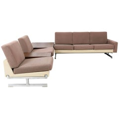 Mid-Century Modern Pluraform Sofas with Wenge Coffee Tables by Rolf Benz, 1964