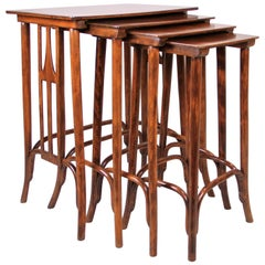 Art Nouveau Nesting Table Set by Thonet, Austria, circa 1905
