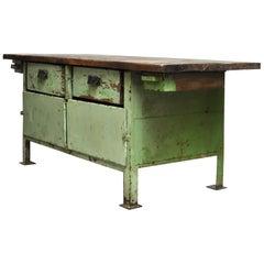 Industrial Worktable, 1950s