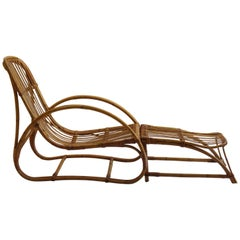 1960s Cane Lounge Chair and Footstool by Dryad and Angraves