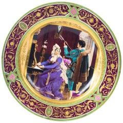 19th Century Vienna Porcelain Cabinet Plate Bidenschild Mark
