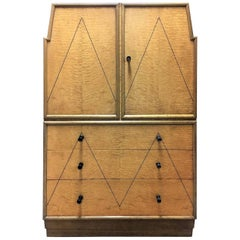 Art Deco Original Skyscraper Cabinet in Hungarian Ash and Walnut