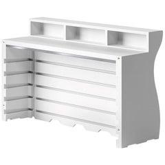 Bartolomeo Desk in White Polyethylene by JVLT/Joe Velluto for Plust