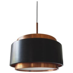 Stilnovo Pendant Lamp in Copper and Glass, Italy, circa 1958