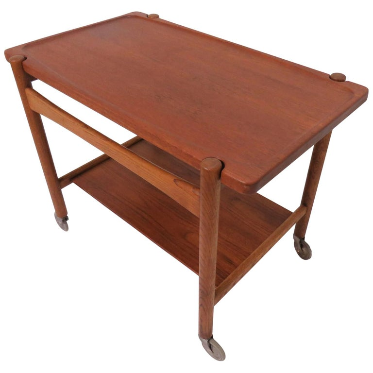 Hans Wegner Danish Teak Bar / Serving Cart for Andreas Tuck, circa 1960s