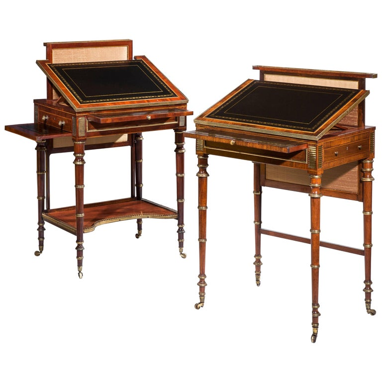 Close Pair of Regency Writing Tables by John McLean For Sale