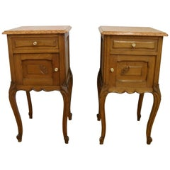 Pair of Early 20th Century Continental Oak Bedside Cabinets