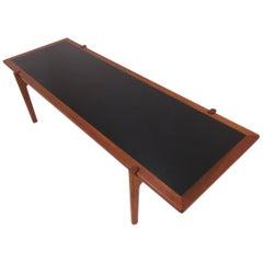 Hans Wegner Danish Teak Reversible Flip Top Coffee Table for Johannes Hansen