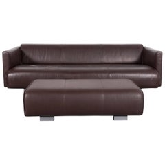 Rolf Benz 6300 Sofa Set Leather Brown Three-Seat Bench