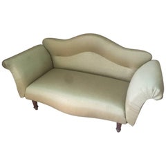 Upholstered with a Green Fabric Napoleon III Couch