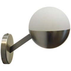Perla Satinato Nickel Wall Sconce