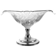 Sterling and Crystal Compote