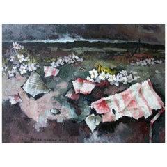 Oscar Rabine 2003, Pink Rags, Oil on Canvas