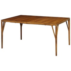 Helge Vestergaard Jensen Dining Table with Three Leaves
