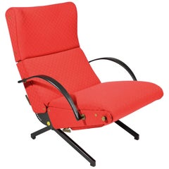 Red P40 Osvaldo Borsani Tecno Lounge, Chair, 1955