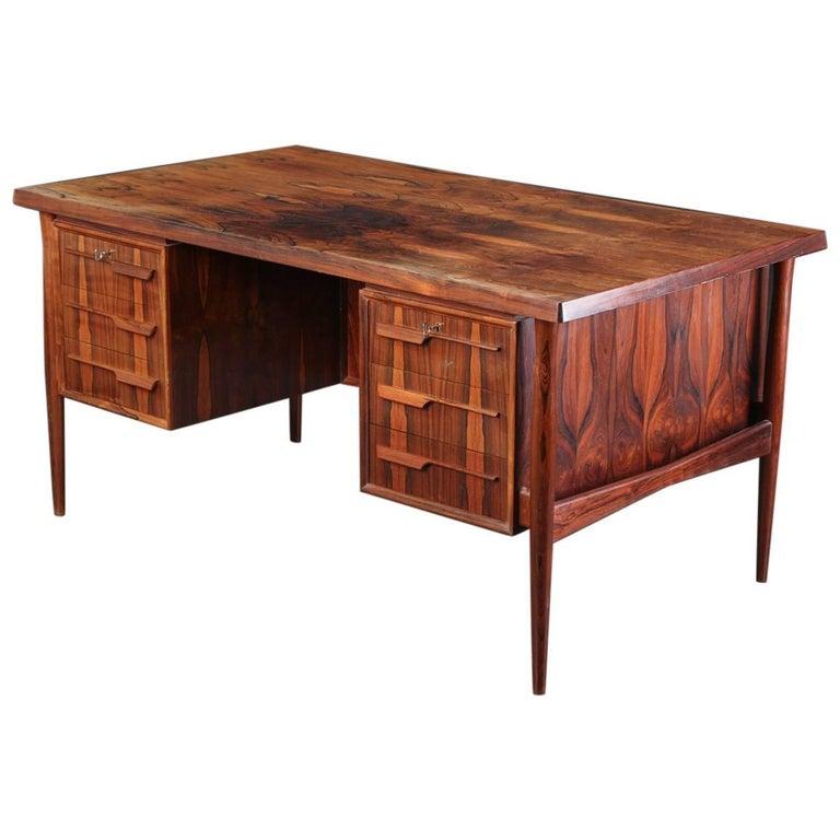 Danish Rosewood Desk Made 1960s