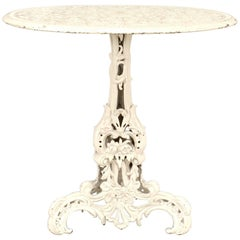 Outdoor American Victorian Painted Iron Round Center Table