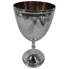 Pretty Antique English Sterling Silver Garland Goblet