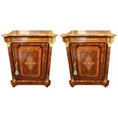 Pair of Late Victorian Side Cabinets, circa 1880