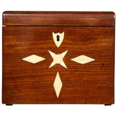 Sailor's Inlaid Mahogany Box