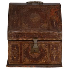 18th Century Gilt Tooled Leather Box