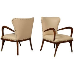 Pair of Diminutive Modernist Armchairs