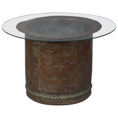 Riveted Copper Early 19th Century Oversize Log Bin, as Coffee Table