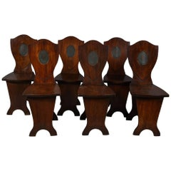 Set of Six Georgian Hall Chairs
